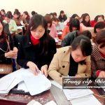 Lớp học Chuyên đề thực tế ngành Hành chính văn phòng trường Trung cấp Đông Đô