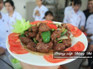 Sản phẩm của 1 buổi học lớp Trung cấp Nấu ăn trường Trung cấp Đông Đô