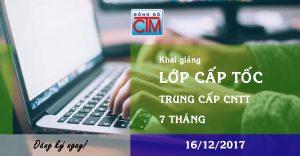 16/12/2017 - Khai giảng khóa học cấp tốc trung cấp CNTT 7 tháng - Tuyển sinh Đông Đô