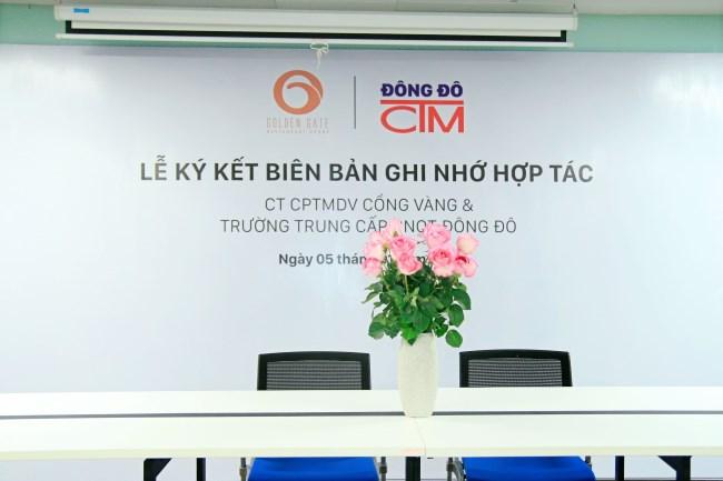 Lễ ký kết hợp tác giữa Công ty Cổng Vàng và trường Trung cấp Đông Đô 2 - Tuyển sinh Đông Đô