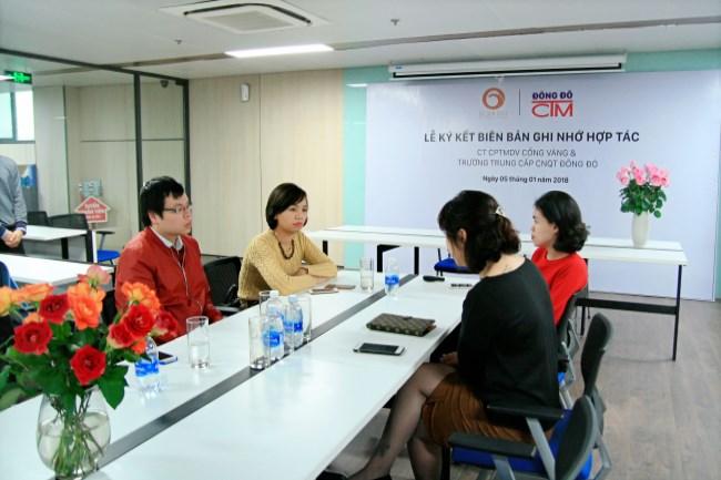 Lễ ký kết hợp tác giữa Công ty Cổng Vàng và trường Trung cấp Đông Đô 3 - Tuyển sinh Đông Đô