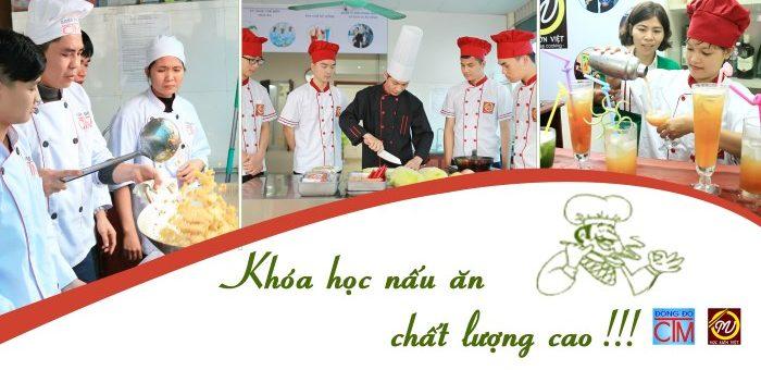 Khóa học Trung cấp Nấu ăn chất lượng cao