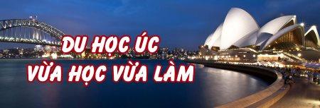 banner du học Úc vừa học vừa làm thủ tục đơn giản chi phí thấp