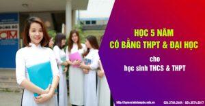 học 5 năm có bằng Tốt nghiệp THPT và Đại học Chính quy cho học sinh Tốt nghiệp THCS và THPT trường Trung cấp Đông Đô