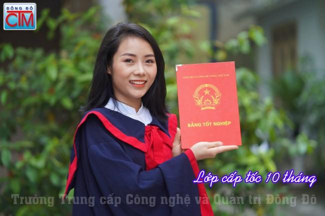 Lớp cấp tốc 10 tháng Trung cấp Chính quy hạn cuối 30/06 trường trung cấp Đông Đô