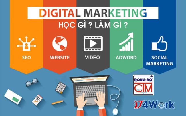 học digital marketing trong chương trình trung cấp trường Trung cấp Công nghệ và Quản trị Đông Đô