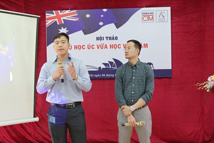 đại diện trường Ausway College giới thiệu về chương trình du học Úc vừa học vừa làm