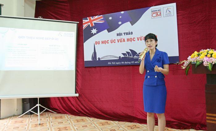 cô Nguyễn Thanh Thủy giới thiệu chương trình Du học Úc vừa học vừa làm
