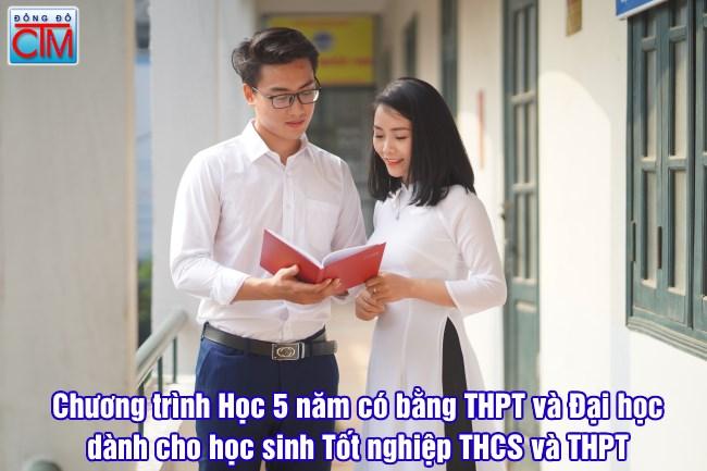 chương trình học 5 năm có bằng THPT và Đai học Chính quy cho học sinh THCS và THPT trường Trung cấp Đông Đô