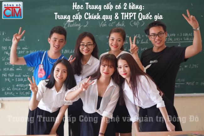 ảnh bài viết học trung cấp có 2 bằng: trung cấp chính quy và THPT Quốc gia tại trường Trung cấp Công nghệ và Quản trị Đông Đô