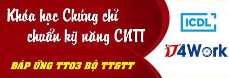 banner khóa học chuẩn kỹ năng CNTT ICDL IT4Work trường Trung cấp Công nghệ và Quản trị Đông Đô