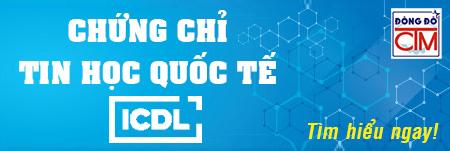 banner chứng chỉ tin học quốc tế ICDL trường Trung cấp Công nghệ và Quản trị Đông Đô
