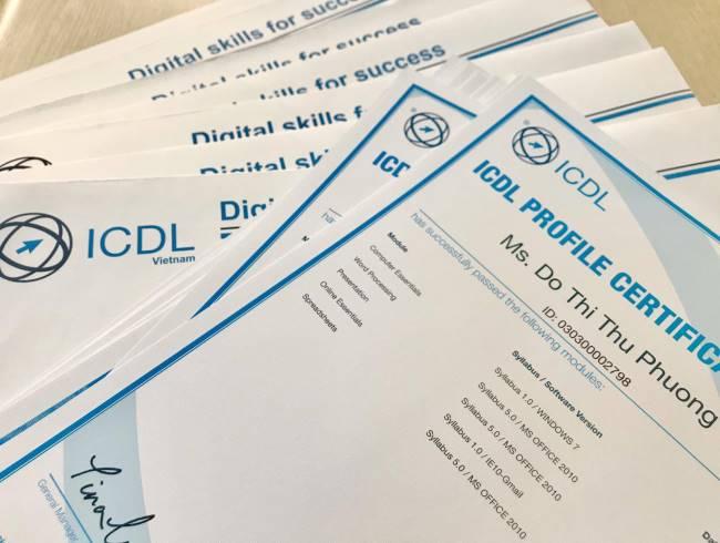 khoá ôn thi chứng chỉ tin học quốc tế ICDL tại trường Trung cấp Công nghệ và Quản trị Đông Đô